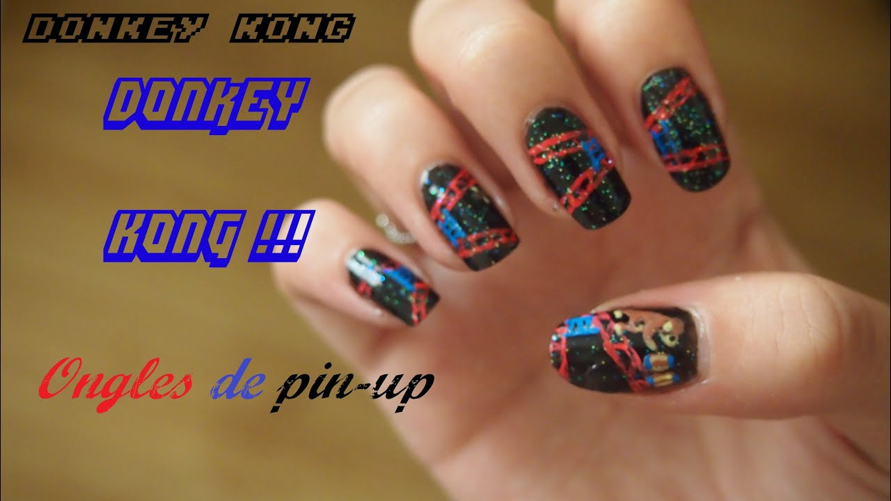 Nail Art Donkey Kong Geek Retro Gaming Youtube