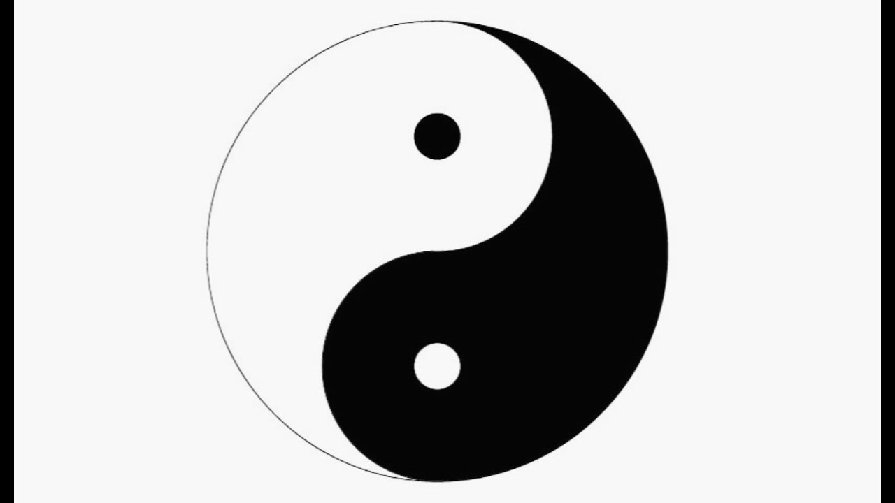 How To Draw A Yin Yang Symbol In Adobe Illustrator Youtube