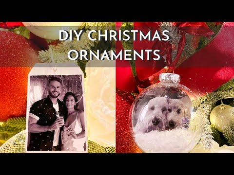 DIY CHRISTMAS ORNAMENTS | PHOTO ORNAMENTS