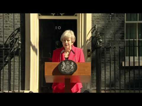 Tearful Theresa May