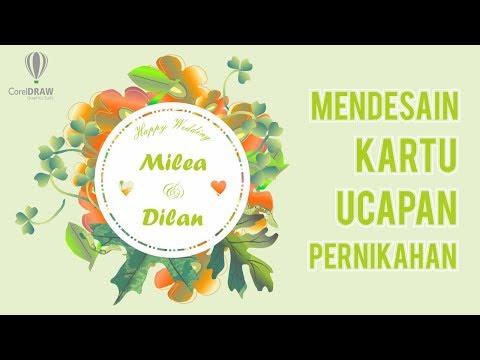 Floral Wedding Invitation | Belajar CorelDRAW Indonesia