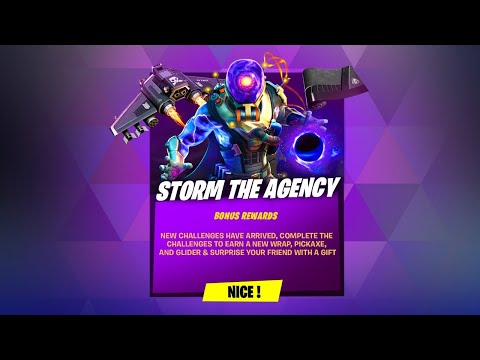 STORM THE AGENCY CHALLENGES & FREE REWARDS NOW (Fortnite Battle Royale)