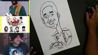 How to Draw Caricature of Pele