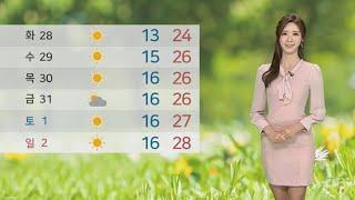 [날씨] 내일 강한 비바람…때이른 더위 누그러져 / 연합뉴스TV (YonhapnewsTV)