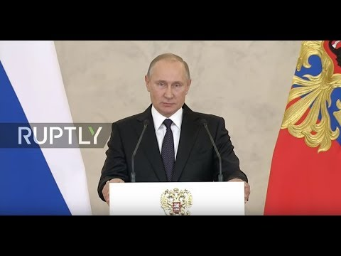 LIVE: Putin awards Russian military personnel for Syria operations