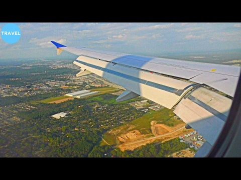 United Airlines Airbus A320 Landing at Houston Intercontinental Airport!