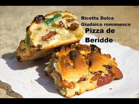 pizza de beridde dolce tipico ebraico romano youtube