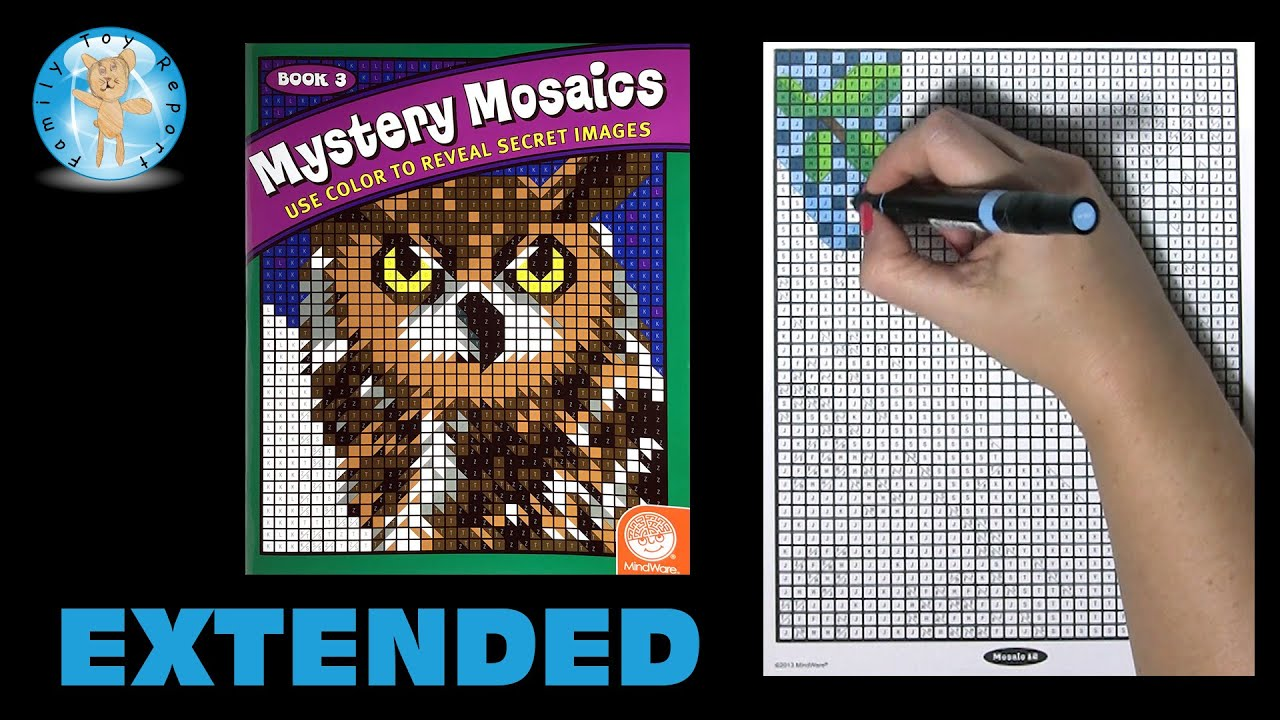 Mindware Mystery Mosaics Book 3 Coloring Speed Color Animal Extended