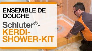 Comment installer l'ensemble de douche Schluter®-KERDI-SHOWER-KIT