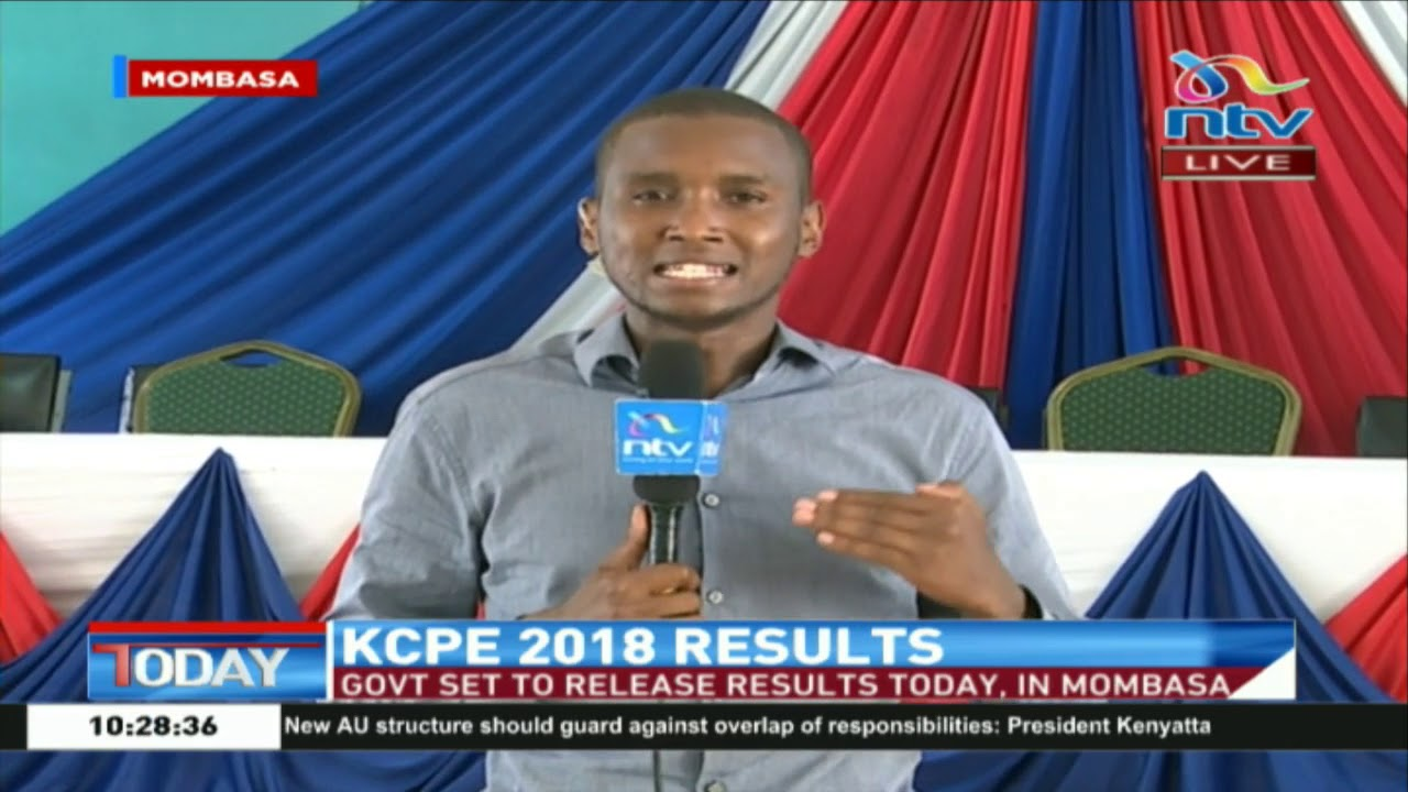 KCPE 2018 results to be released Monday, November 19 2018 - YouTube