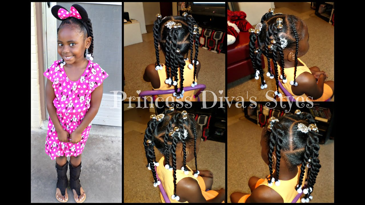 Watch Me 1 Llittle Girls Hair Style Simple Ponytails
