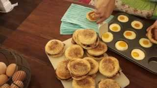 Quarter Of An Hour Bacon And Egg Muffins