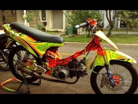 Motor Trend Modifikasi Video Modifikasi Motor Kawasaki Kaze R Racing Drag Style Terbaru