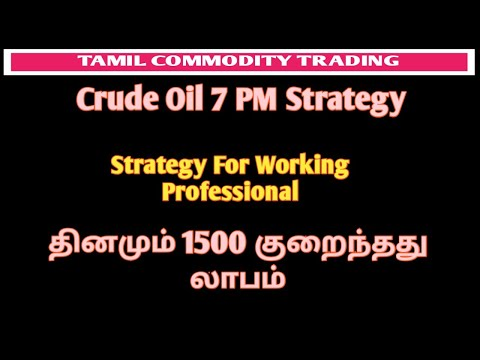 Crude Oil 7PM Strategy | Crude Oil Strategy VI | Tamil Commodity Trading