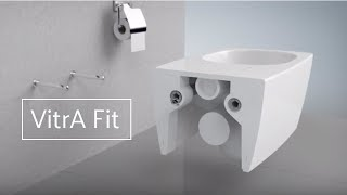 VitrA installation guide for wall-hung wc with concealed fixings