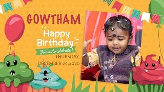 Gowtham Happy Birthday - Dec 24,2020