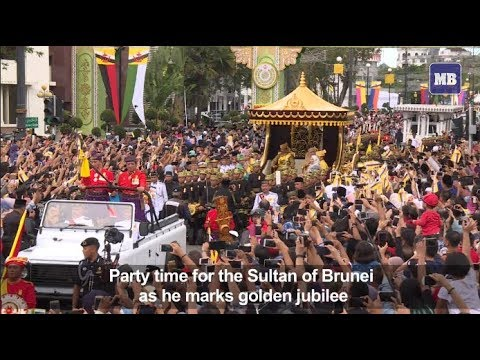 Brunei sultan marks golden jubilee with lavish celebrations