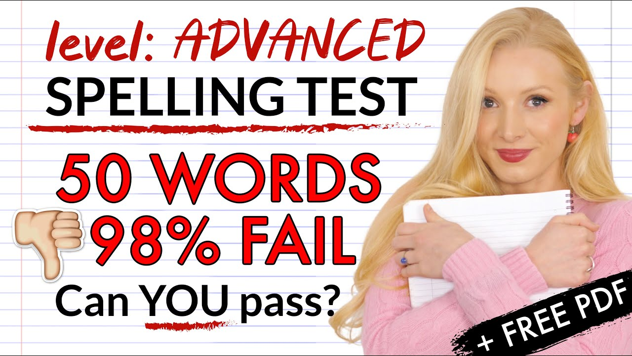 Can YOU pass this spelling test? 98% CANNOT! 50 most MISSPELLED words (with worksheet)