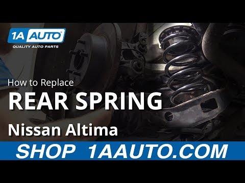 How to Replace Rear Spring 06-12 Nissan Altima