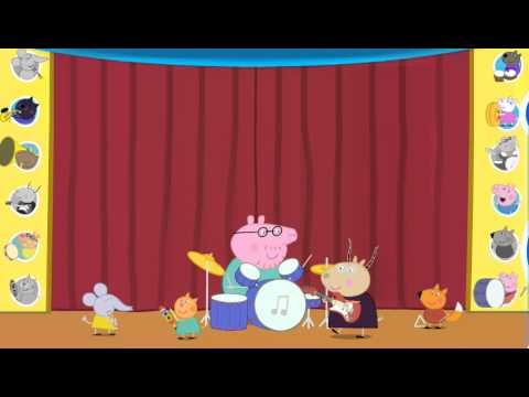 peppa pig playing song on instruments