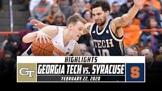 Georgia Tech vs. Syracuse Basketball Highlights (2019-20) | Stadium