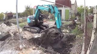 Крым.Работа мини-экскаватора.                                    #ТеплотехникаКрыма