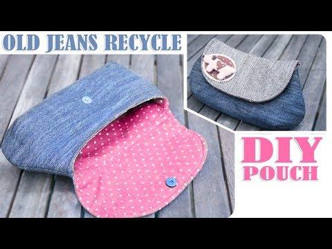 DIY JEANS PURSE BAG TUTORIAL // Old Jeans Transform Idea HandBag