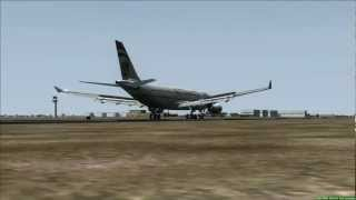 Etihad A330-200 lands at Kuwait City