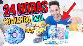24 horas comiendo azul - All day eating blue food colors Mayden