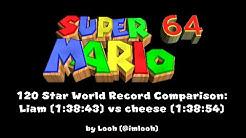 120 Star World Record Comparison: Liam (1:38:43) vs Cheese (1:38:54)