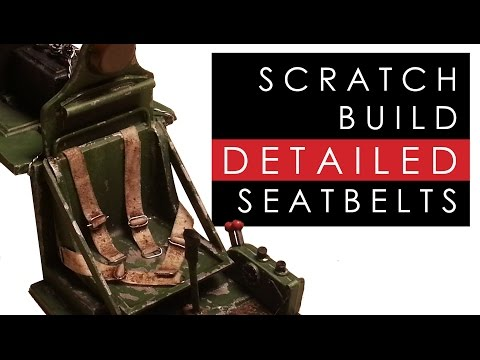 How to scratch build detailed seatbelts for scale model plane cockpits