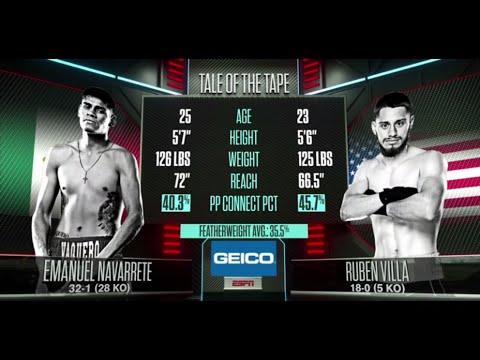 Эмануэль Наваррете – Рубен Вийя / Emanuel Navarrete vs. Ruben Villa