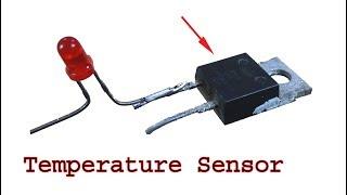 Make a Temperature sensor using diode, diy ptc thermistor resistor