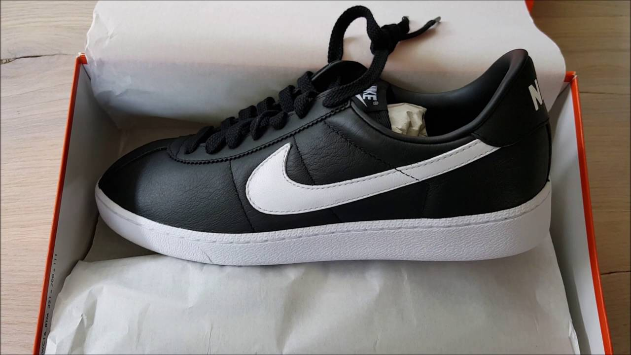 new arrival 7e0ab b4a21 Nike Bruin leather Black with white swoosh QS 2016