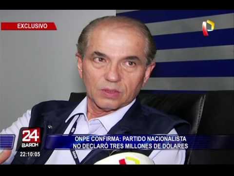 Partido Nacionalista no declaró US$3 millones a ONPE