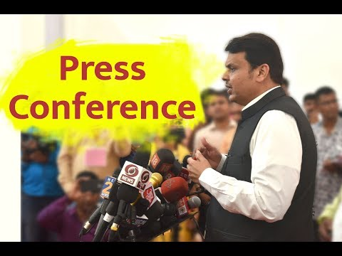 CM Devendra Fadnavis interacting with media from Maharashtra BJP  Office, Mumbai.