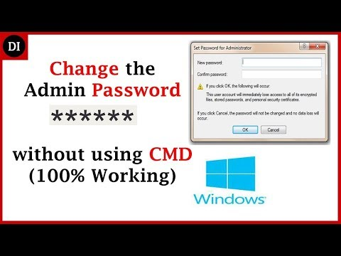 How to Change Administrator Password on Windows 10, 8, 7 with no software, CD, CMD 2017 | Deep Info