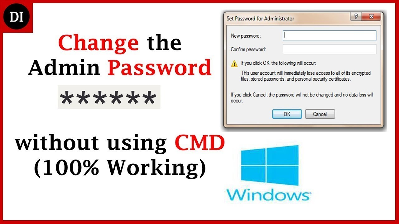 How to change admin password using cmd windows 10 | Change user