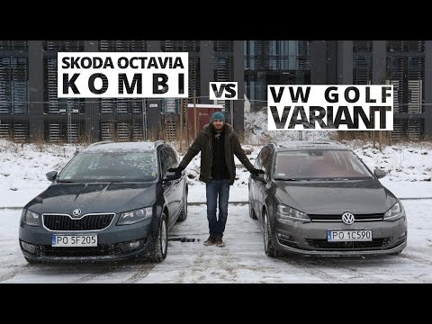 skoda octavia kombi vs volkswagen golf variant por wnanie 171 youtube. Black Bedroom Furniture Sets. Home Design Ideas