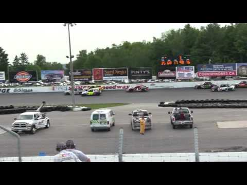 Sunset Speedway Mini Stock Fast Qualifier Dash 2016 08 20