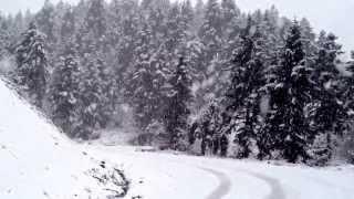 Karditsa snow plastiras lake - Λίμνη Πλαστηρα χιονόπτωση 25/01/2013