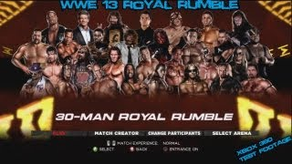WWE 13 - Royal Rumble (Old school) - Xbox 360 Testing