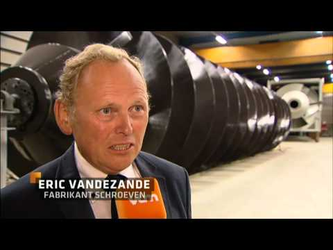 Exceptionnal transport of screw by AltéAd on VTM-news