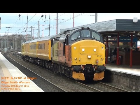 37421 & 97301 at Wigan - 15th March 2016
