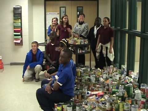 Ladys Island Middle School Food Drive For HELP Of Beaufort 11 23 09 2