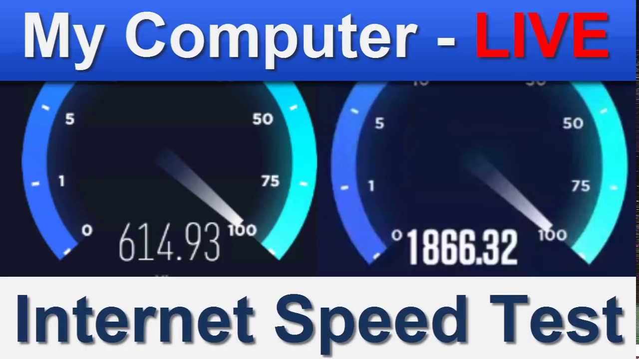 Internet Speed test of my Computer (Virtual Private Server Speed