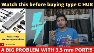 Eksa type c hub for macbook pro ipad mobiles A big problem Watch this before buying type C hub
