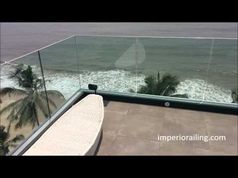 Imperio Frameless Glass Railing Systems Installed
