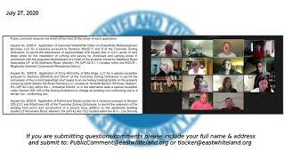 July 27, 2020 East Whiteland Township Zoning Hearing Board