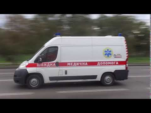 Peugeut Boxer ambulance responding with siren